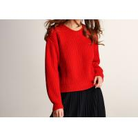 Lady Joyous Chinese Red Crew Neck Winter Jumper Manufactures