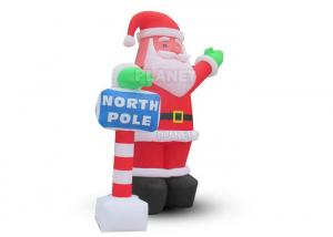 Custom Outdoor Christmas Decoration LED Lights Inflatable Santa Claus For Home Backyard Manufactures