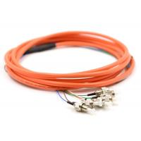 3m 6 Core Multimode OM1 Optical Pigtail , FC Pigtail For Network Telecom FTTH Manufactures