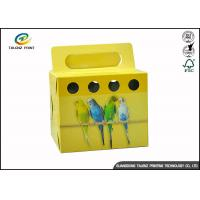 Colorful Printing Cardboard Gift Boxes Foldable Space Saving For Birds Manufactures