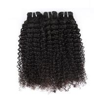 Natural Color Peruvian Body Wave Hair BundlesCurly Dancing And Soft 10 To 30 Stock