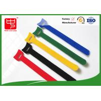 160 * 12mm colored hook and loop cable ties with small hole Heat resistance Manufactures