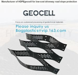 Plastic Hdpe Cellular Textured Gravel Stabilizer Typar Geocell Recycled Plastic Pavers Textured Perforated Driveway Manufactures