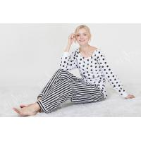 Comfortable Dotted Womens Pyjama Sets Long Sleeve Top And Pants Soft Handfeel Manufactures