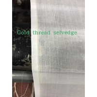 Metallic thread selvedge 100% spun polyester high twisted full voile factory direct sale cheap price high quality Manufactures