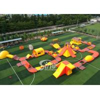 42x25m Custom Deisgn Giant Inflatable Floating Water Park With Silk Printing Manufactures