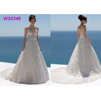Sweetheart Neckline Spaghetti Straps Floral Lace and Tulle Bridal Ball Gowns Manufactures