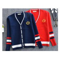 Buy cheap Solid Color Kids Navy Blue School Uniform Sweaters Customized Bulk Design from wholesalers
