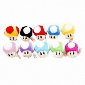 China 3 Inches 10-color Mario Plush Toys for Super Mario on sale
