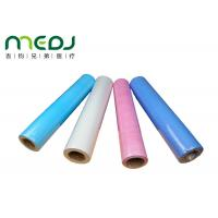 Paper And PE Medical Disposable Bed Sheets 49cmX50m Fabric Roll Manufactures