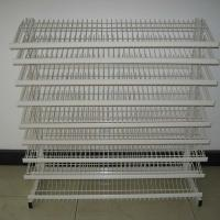 Buy cheap Floor Standing Adjustable Wire Rack , Mulitple Tier Adjustable Display Shelves from wholesalers