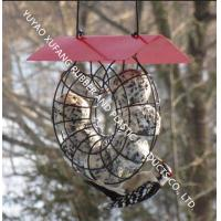 Circle Bird Feeder Squirrel Proof Fat Ball Lantern With Red Roof Unique Design Manufactures