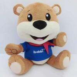 China Smiling face teddy bear plush toy, wholesale plush toys, custom plush toy on sale