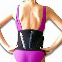 Back Support with Three Plastic Stays, Made of Nylon Material Manufactures
