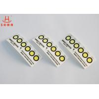 Cobalt Free 6 Dots Colour Change PCB Moisture Indicator Paper Card RoHS Manufactures