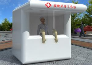 Air Sealed Mobile Fast Set Up Inflatable Nucleic Acid Booth Sampling Cabin Workstation Manufactures