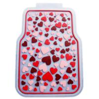 Rubber Latex Pure Material Universal Car Mat With Pink Lovely Pattern Manufactures