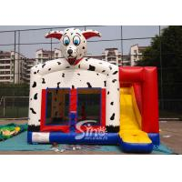 Outdoor N indoor spotted dog inflatable bounce house with slide for family yard parties Manufactures