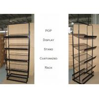 Buy cheap Light Duty Commercial Metal Wire Display Racks With Mulitple Shelves KD from wholesalers