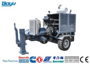 Transmission Line Stringing Equipment Water Cooling Diesel Engine 173hp Hydraulic Cable Puller Manufactures