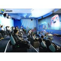 Electric Dynamic 7D Cinema System / 3 People Capacity Movie Theater Chairs Manufactures