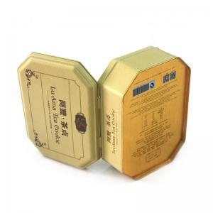 Antique octagonal tea cookie metal tins wholesale Manufactures