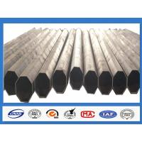 Polygonal Galvanised Steel Pole for Distribution with min yield strength 345 Mpa Manufactures