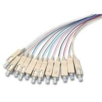 12 Color Fiber Optic Pigtail 2 - 48 Cores Single / Multi Mode Various Connector Types Manufactures