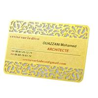 Vip Rose Gold  Metal Business Cards Custom Engraved Golden Plated Advertisementing Manufactures