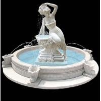Garden stone fountain carving statue water fountain white marble sculpture ,stone carving supplier Manufactures