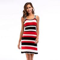 Buy cheap Knitted Bodycon Ladies Casual Beach Dresses Pleated Wooden Ear Dresses from wholesalers
