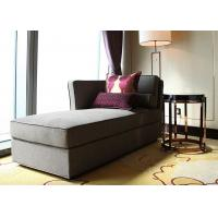 Modern Linen Fabric Wooden Lounge Chair , Grey Elegant Chaise Lounge Sofa Manufactures