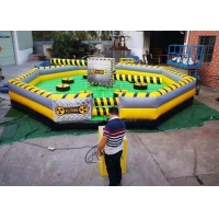Commercial Meltdown Mechanical Inflatable Wipe Out With 0.55mm PVC Tarpaulin Manufactures