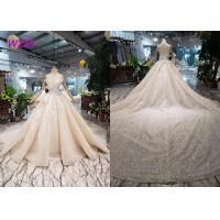 O - Neck Sleeveless Handmade Bridal Ball Gowns Special Dress For Wedding Function Manufactures