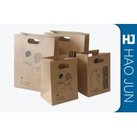 Professional Kraft Paper Gift Bags With Handles , Matt Lamination Manufactures