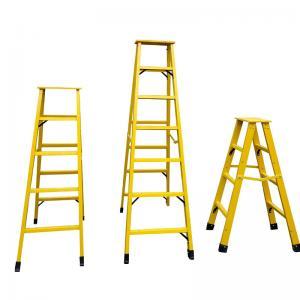 Fiberglass extension insulated ladder FRP Industrial step ladder Manufactures