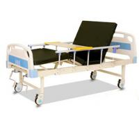 Quality Movable Two Crank Hospital Patient Bed With Overbed Table And High Foam Mattress for sale