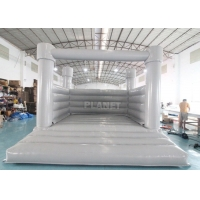 0.55mm PVC Inflatable White Wedding Jumper Bouncy Castle / Commercial White Castle Inflatable Bounce House Manufactures