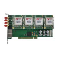 PCI hybrid card with 4 ports GSM and 8 ports FXS, gsm400p,asteris gsm card Manufactures