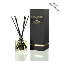 Buy cheap Luxury Transparent Round Bottle Home Reed Diffuser with Black Gift Box from wholesalers