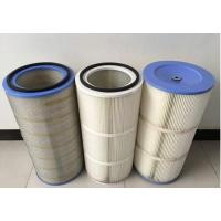 HEPA Air Pleated Filter Cartridge For Dust Collector 0.2 Micron Porosity