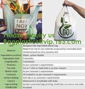 Tougher Stronger Market Bags, freezer Eco Friendly Pla Compostable Corn Starch Garbage Bag Rubbish/Trash Bag Biodegra Manufactures