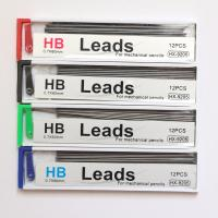Quality Unbreakable Stationery Polymer Mechanical Pencil Lead 75mm Black Hb Lead for sale