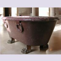 Home deocration pink marble bathtub with polish surface for bathroom,china sculpture supplier Manufactures
