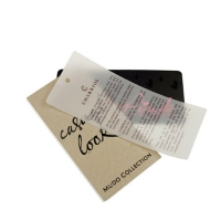 Wholesale Custom Paper Logo Swing Hang Tag For Clothing Manufactures