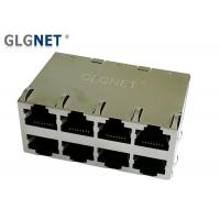 Buy cheap 2x4 Stacked Multiple Port Rj45 Gigabit Connector 1G POE+ RJ45 Connector from wholesalers