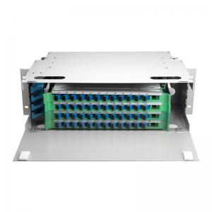 Outdoor 48 Port ODF Optical Distribution Frame IP66 Mild Steel Fiber Optic Patch Panel Manufactures