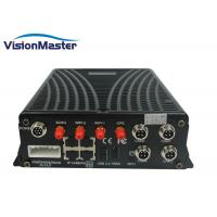 WiFi 3G 4G Optional 4G Mobile DVR H264 2TB HDD 4CH Aviation Connector With SD Card Manufactures