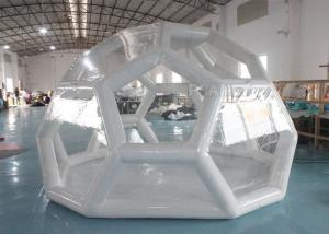 Outdoor Portable 4m Air Sealed Clear Transparent PVC Inflatable Soccer Bubble Camping Tent Manufactures