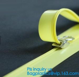 PP clear long chain press lok zipper, seal pe document bag press lok zipper, double slider press lok zipper, SLIDER ZIPP Manufactures